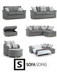 CHILLI CORNER SOFA SILVER + 3+2+1 SWIVEL CHAIR +FOOTSTOOL+SOFA BED SILVER