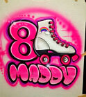 Custom Airbrushed Roller Skates Themed Shirt w/ Name(Sizes 6 months - Adult 5XL)