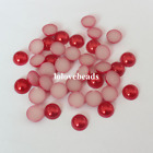 Red 10mm Half Flat Back ABS Pearls Scrapbook Loose Gems Craft DIY Decoration