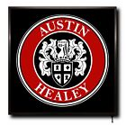 AUSTIN HEALEY LED 50cm x 50cm WALL LIGHT BADGE LOGO CAB MAN CAVE SIGN + REMOTE