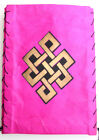 Endless Knot Printed Lokta Paper Ceiling Lamp Shade/Light Shade from Nepal