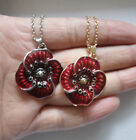 2019 New Equilibrium Red Poppy Flowers Necklaces Pendants Jewellery Wish Peace