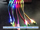 LIGHTED LED phone charger data cable for APPLE SAMSUNG LG HTC ZTE NOKIA GOOGLE