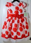 NWT GIRLS KIDS BONNIE JEAN RED/WHITE FLORAL FLOWER DRESS SIZE 6X