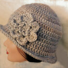 CROCHET LADIES CLOCHE HAT festival hippy 1920s cowl scarf gloves set 55 mittens