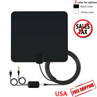 Flat HD Digital Indoor Amplified TV Antenna with Amplifier 60 Miles Range 1080P