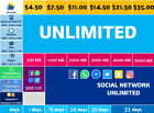Credit for Telcel Sim card unlimited call, sms, whatsapp, USA, Canada, Mexico 2