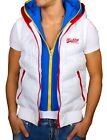 double layer vest - REROCK Men's Jacket Sleeveless Vest with Hood Double-Layer Look 8950 White