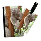 KOALA SLEEPING IN A TREE FLIP PASSPORT AND LUGGAGE TAG HOLDER TRAVEL COVER