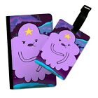 FUNNY LUMPY SPACE PRINCESS FLIP PASSPORT AND LUGGAGE TAG HOLDER TRAVEL COVER