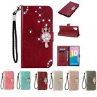 10pcs/lot Owl Diamond Embossed Wallet Flip PU Leather Case for iPhone Samsung HW