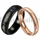 couples rings - 2PCS His Queen Her King Couple Rings CZ lnlaid Promise Wedding Engagement Band