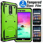 For LG Stylo 6/Stylo 5/4/3 Hybrid Case Armor Phone Cover/ Glass Screen Protector