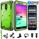 For LG Stylo 4/Stylo 3 / Plus Phone Case Cover + Tempered Glass Screen Protector