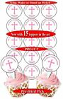 15 Confirmation Girl edible cupcake toppers, precut, 2 sizes, PERSONALISED