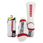 NRL Mens Crew Socks - St George Illawarra Dragons - One Set - Sock - BNWT