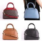 NWT Michael Kors EMMY Leather/PVC Small Dome Satchel Crossbody Bag Various Color