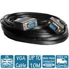 1.5M 2M 3M 5M 10M LONG VGA CABLE LEAD WIRE MALE - MALE CCTV MONITOR TV CONNECTOR