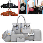 New Luxury 6 PCS Women Ladies Leather Handbag Shoulder Bags Ladies Multi-purpose