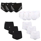 3 PAIRS WOMENS LADIES LACE MAXI BRIEFS COMFORT FIT PLAIN BRIEFS KNICKERS BLACK