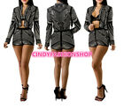 women club outfits - Women Sexy Sequined Slim Two-Piece Set Top +Shorts Bodycon Mini Club Outfit #J2