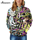 Raisevern Cartoon Rick and Morty Print 3D Hoodie Women Hooded Outfits Tops 3D Gr
