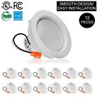 12 x 4 Inch 9W Classic Down Light LED Recessed Dimmable Retrofit Ceiling Kit Can