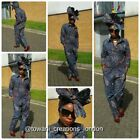 Towani  African Ankara Kitenge Fabric Jumpsuit, Boilersuit  Size 8 and 14UK