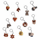 Keychain Animal Wood Animal Handpainted Children Motif Selection