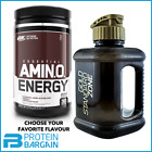 Optimum Nutrition Amino Energy x 270g + New 2.2L Gold Standard Water Jug Bottle