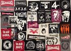 PUNK OI SKINHEAD PATCHES ADICTS OXYMORON SHARP BLITZ SHAM ANGELIC COCKNEY SPARRE