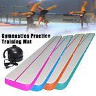 4M 220v Gymnastics Inflatable Air Track Tumbling Training Practice Gym Mat Track