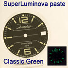 WATCHES-PARTS: HAND PAINTED SUPERLUMIA  695 DIAL VOSTOK AMPHIBIA 3 KINDS OF LUME image