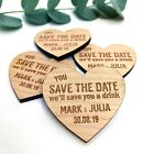 Save The Date Cards Wedding Personalised Wooden Magnets Fridge Rustic Invitation