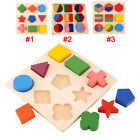 Kids Baby Wooden Geometry Educational Toys Puzzle Montessori Early Learning Gift