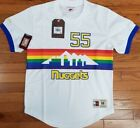 NEW MITCHELL & NESS Denver Nuggets #55 Mutombo White MESH Crew-neck JERSEY NBA on eBay