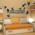 [WD101026] Personalised Name Boys Wall Art Sticker - Skaters, Skateboard, Park,