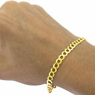 Solid 14K Yellow Gold 2.5mm-12mm Cuban Curb Chain Link Bracelet Men Women 7&quot;- 9&quot; <br/> GUARANTEED 14K GOLD |  CHOICE OF ALL WIDTHS AND LENGTHS