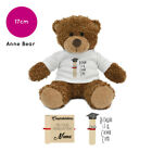 Personalised Name Graduation Anne Teddy Bear Gift Ideas Gifts for Him Her