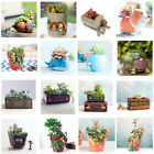 Home Garden Flower Herb Planter Succulent Pot Trough Box Plant Bed Case Bonsai