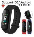 Sports Fitness Activity Tracker Heart Rate Fit Monitor Bit Wristband Smart Watch