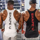 Fitness Wolf  Men X Back Gym Tank Tops Quick Dry Running Bodybuilding Shirts