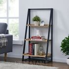 Black Metal Shelves with Choice of 3, 4 or 5 Wooden Shelves Storage Bookcase