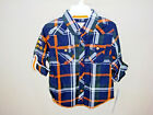 GUESS 100% Cotton Plaid Roll Sleeve Button Front Shirt BOY SIZE 3T NWT