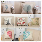 Home Decorative Cotton Linen Square Pillow Case Sofa Waist Throw Cushion Cover