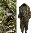 Hunting Camouflage Clothing 3D Leaf Ghillie Suit Woodland Military Clothes Pant