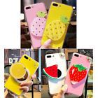 10pcs/lot Fruit Watermelon Pineapple Mirror Cover Case For iPhone 5/6/6P/7/7P/X