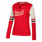 NHL Detroit Red Wings CCM Henley Long Sleeve T Shirt Womens $32.33 USD on eBay