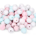 50Pcs Round Silicone Teething Beads DIY Baby Chew Sensory Jewelry Teether Making