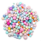 Loose Round Silicone Teething Beads DIY Baby Chew Sensory Jewelry Teether Making